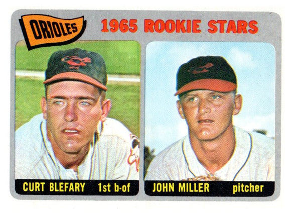 1965 Topps Curt Blefary John Miller Rookie Stars Set Break Baltimore Orioles - JM Collectibles