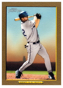 2005 Topps Turkey Red Jeff Kent Gold Insert SP /50 Los Angeles Dodgers - JM Collectibles
