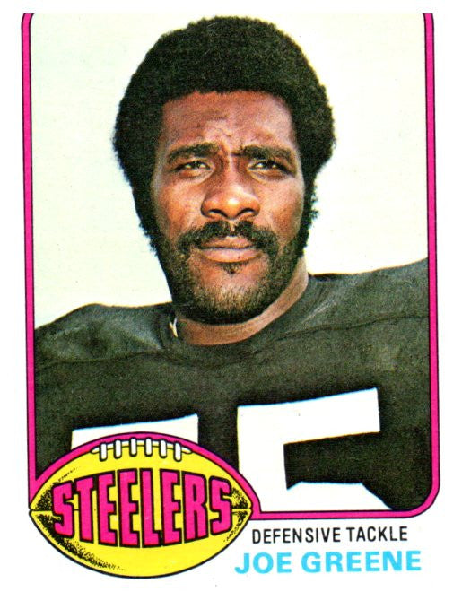 1976 Topps Joe Greene Pittsburgh Steelers - JM Collectibles
