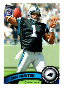 2011 Topps Cam Newton Rookie Card Carolina Panthers - JM Collectibles