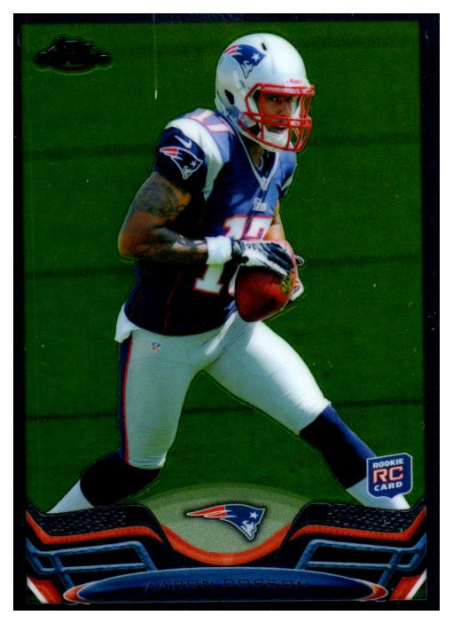 2013 Topps Chrome Aaron Dobson Rookie Card New England Patriots - JM Collectibles