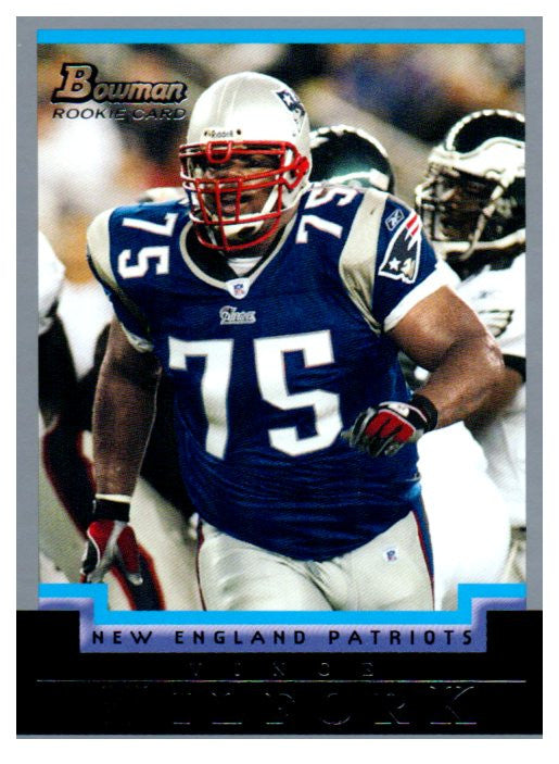 2004 Bowman Vince Wilfork Rookie Card New England Patriots - JM Collectibles