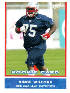 2004 Topps Vince Wilfork Rookie Card New England Patriots - JM Collectibles