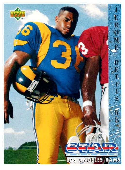 1993 Upper Deck Jerome Bettis Star Rookie Los Angeles Rams - JM Collectibles