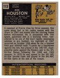 1971 Topps Ken Houston Rookie Card Houston Oilers - JM Collectibles