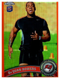 2011 Topps Chrome Da'Quan Bowers Orange Refractor Rookie Card Buccaneers - JM Collectibles