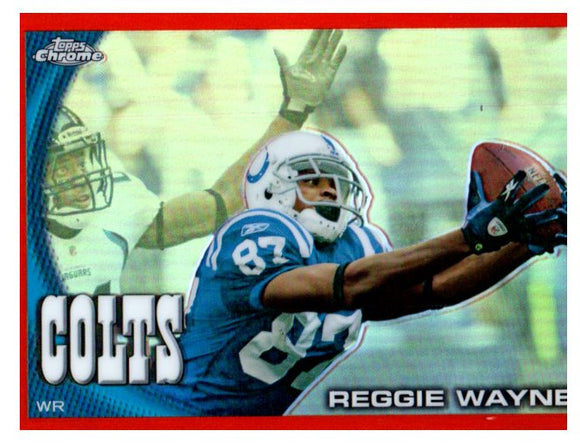 2010 Topps Chrome Reggie Wayne Orange Refractor Indianapolis Colts - JM Collectibles