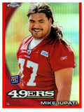 2010 Topps Chrome Mike Iupati Rookie Orange Refractor San Francisco 49ers - JM Collectibles