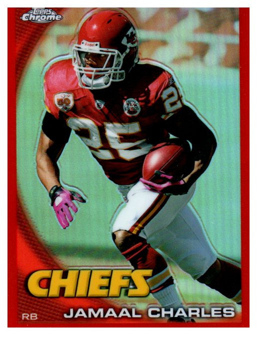 2010 Topps Chrome Jamaal Charles Orange Refractor Kansas City Chiefs - JM Collectibles
