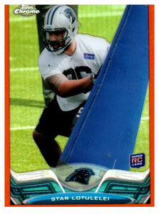 2013 Topps Chrome Star Lotulelei Rookie Orange Refractor Carolina Panthers - JM Collectibles