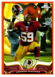 2013 Topps Chrome London Fletcher Orange Refractor Washington Redskins - JM Collectibles