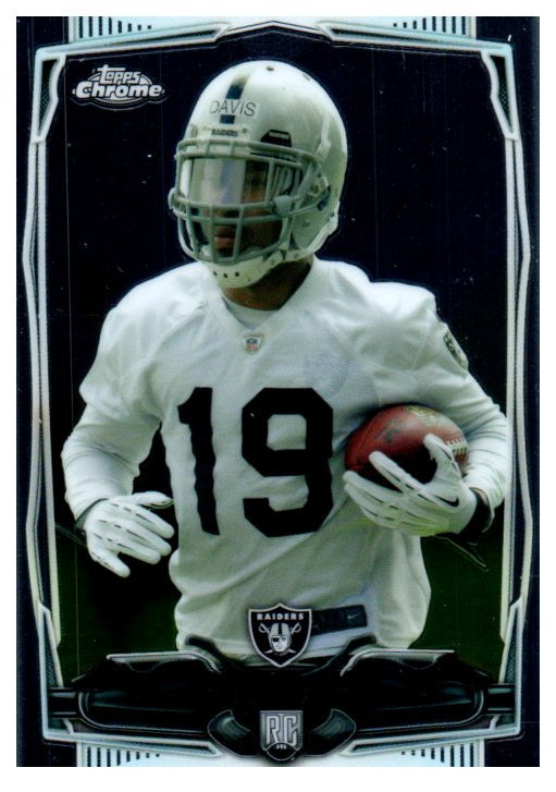 2014 Topps Chrome Mike Davis Rookie Oakland Raiders - JM Collectibles