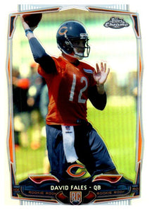 2014 Topps Chrome David Fales Rookie Refractor Chicago Bears - JM Collectibles