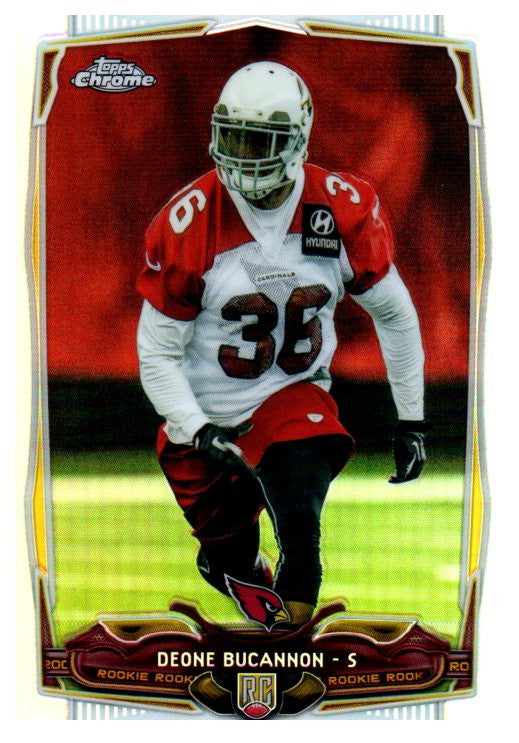 2014 Topps Chrome Deone Bucannon Rookie Refractor Arizona Cardinals - JM Collectibles