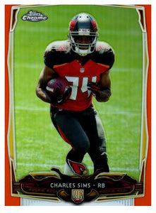 2014 Topps Chrome Charles Sims Orange Rookie Refractor Arizona Cardinals - JM Collectibles
