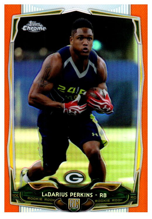 2014 Topps Chrome LaDarius Perkins Orange Rookie Refractor Green Bay Packers - JM Collectibles