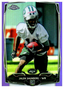 2014 Topps Chrome Jalen Saunders Rookie Purple Refractor New York Jets - JM Collectibles