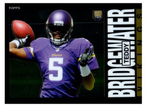2014 Topps Chrome Teddy Bridgewater Rookie Card 1985 Design Minnesota Vikings - JM Collectibles