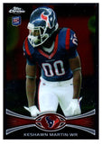 2012 Topps Chrome Keshawn Martin Rookie Card Houston Texans - JM Collectibles