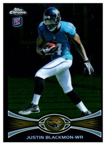 2012 Topps Chrome Justin Blackmon Rookie Card Jacksonville Jaguars - JM Collectibles