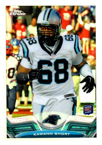 2013 Topps Chrome Kawann Short Refractor Rookie Card Carolina Panthers - JM Collectibles