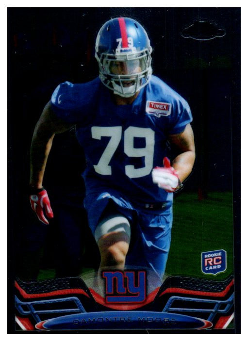 2013 Topps Chrome DaMontre Moore Rookie Card New York Giants - JM Collectibles