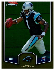 2011 Bowman Chrome Cam Newton Rookie Preview Card Carolina Panthers - JM Collectibles