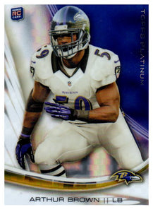 2013 Topps Platinum Arthur Brown Rookie Card Xfractor Baltimore Ravens - JM Collectibles