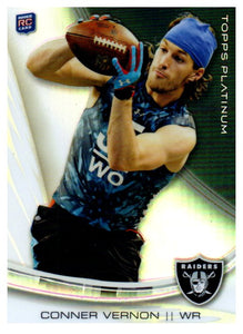 2013 Topps Platinum Connor Vernon Rookie Card Oakland Raiders - JM Collectibles