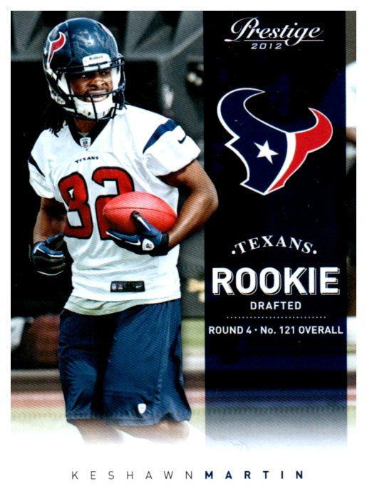 2012 Prestige Keshawn Martin Rookie Card Houston Texans - JM Collectibles