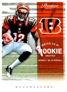 2012 Prestige Mohamed Sanu Rookie Card Cincinnati Bengals - JM Collectibles