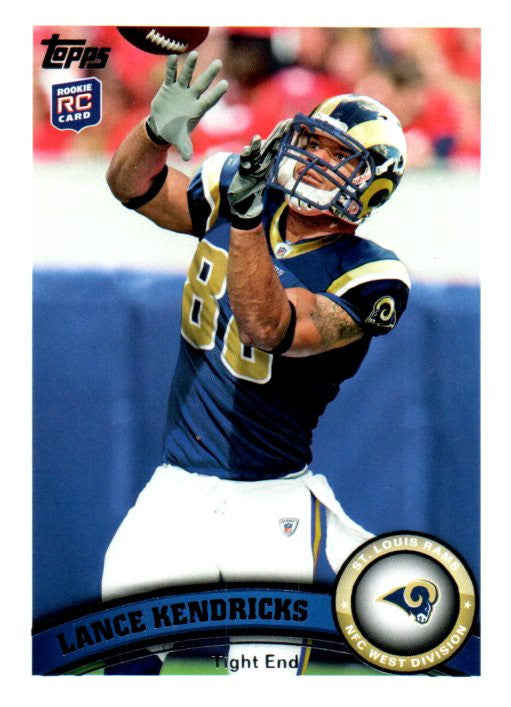 2011 Topps Lance Kendricks Rookie Card St Louis Rams - JM Collectibles