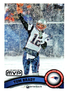 2011 Topps Tom Brady League MVP Card New England Patriots - JM Collectibles