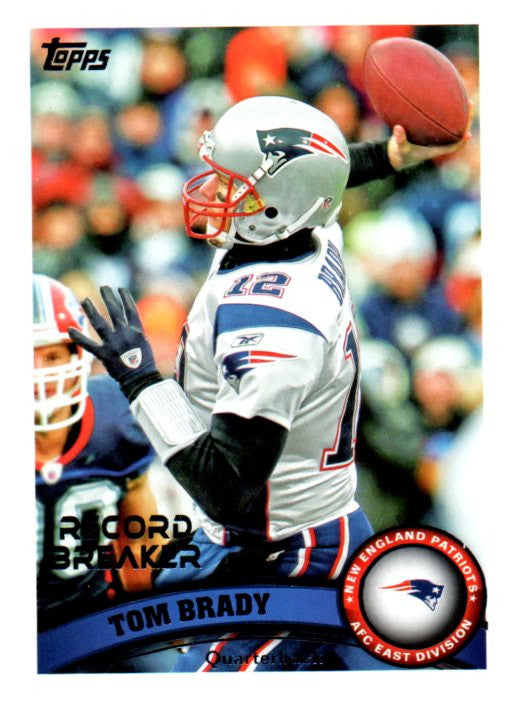 2011 Topps Tom Brady Record Breaker Card New England Patriots - JM Collectibles