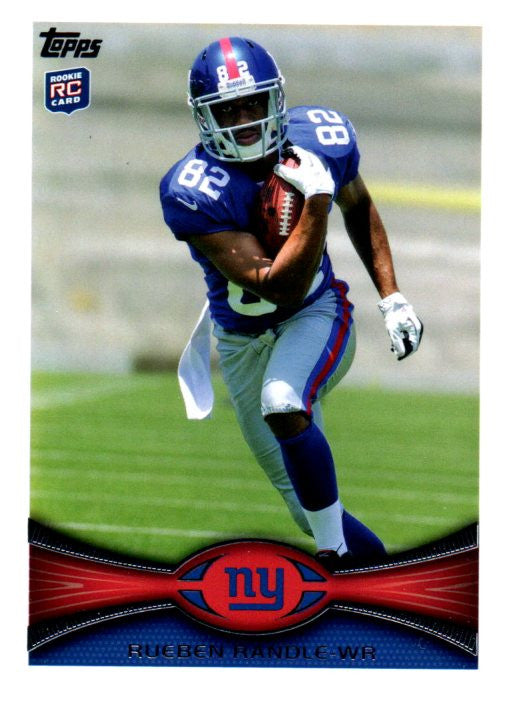 2012 Topps Rueben Randle Rookie Card New York Giants - JM Collectibles