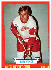 1973 Topps Alex Delvecchio Detroit Red Wings - JM Collectibles