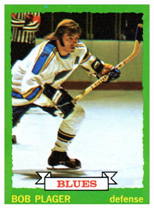 1973 Topps Bob Plager St Louis Blues - JM Collectibles