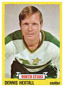 1973 Topps Dennis Hextall Minnesota North Stars - JM Collectibles