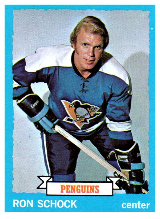 1973 Topps Ron Schock Pittsburgh Penguins - JM Collectibles