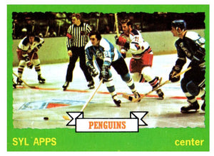 1973 Topps Sly Apps Pittsburgh Penguins - JM Collectibles