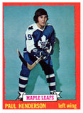 1973 Topps Paul Henderson Toronto Maple Leafs - JM Collectibles