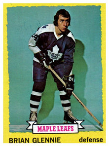 1973 Topps Brian Glennie Toronto Maple Leafs - JM Collectibles