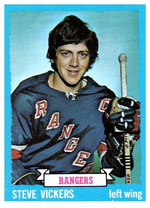 1973 Topps Steve Vickers New York Rangers - JM Collectibles