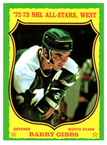 1973 Topps Barry Gibbs All Stars West Minnesota North Stars - JM Collectibles