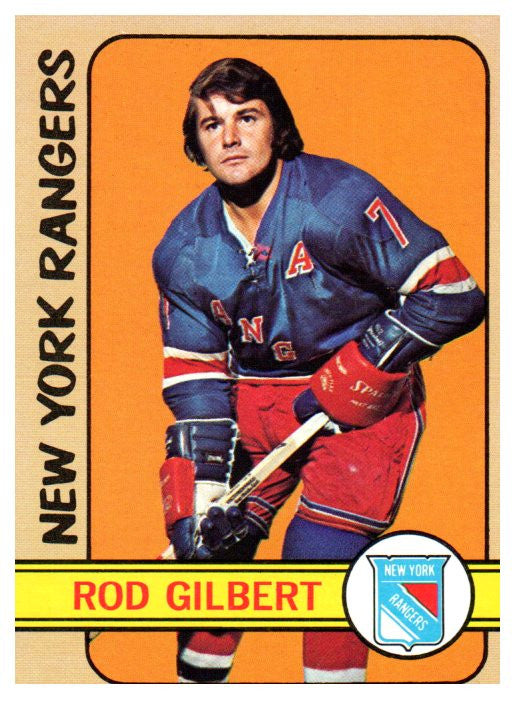 1972 Topps Rod Gilbert New York Rangers - JM Collectibles
