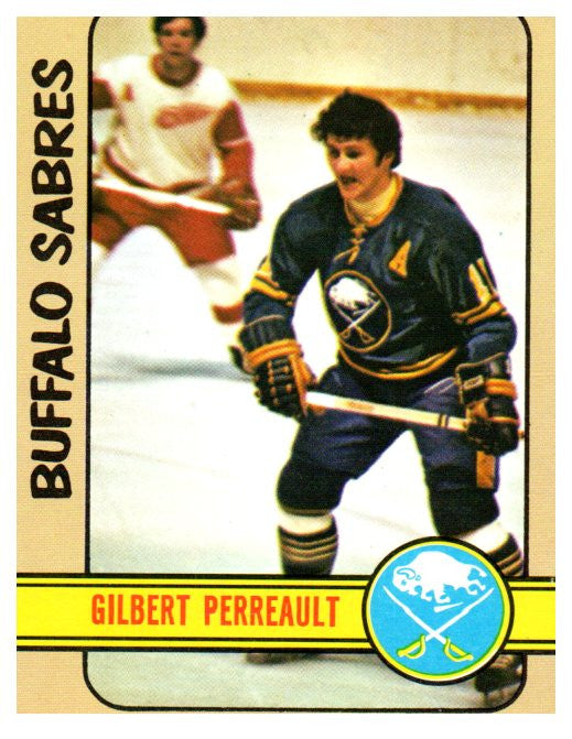 1972 Topps Gilbert Perreault Buffalo Sabres - JM Collectibles