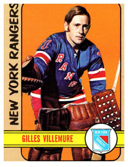 1972 Topps Gilles Villemure New York Rangers - JM Collectibles