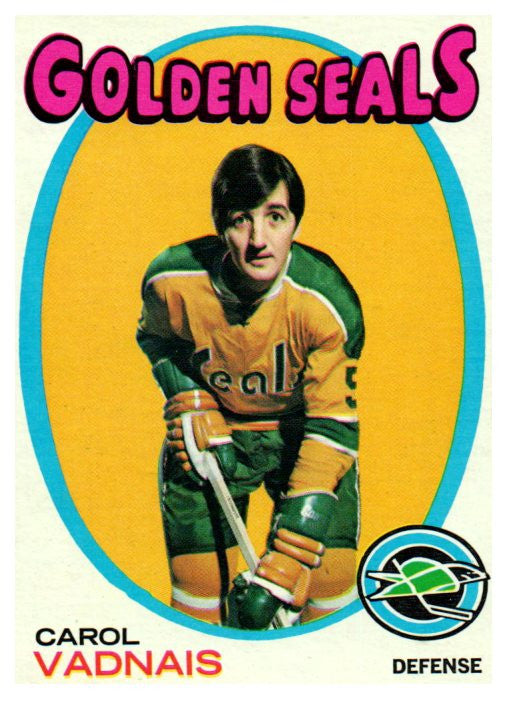 1971 Topps Carol Vadnais California Golden Seals - JM Collectibles