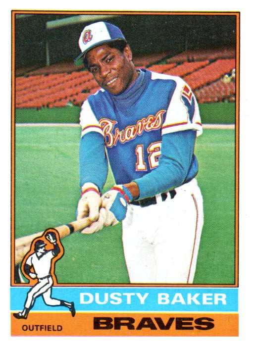1976 Topps Dusty Baker Atlanta Braves - JM Collectibles