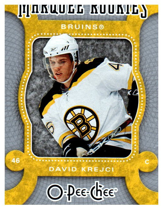 2007-08 O-Pee-Chee David Krejci Marquee Rookie Card Boston Bruins - JM Collectibles